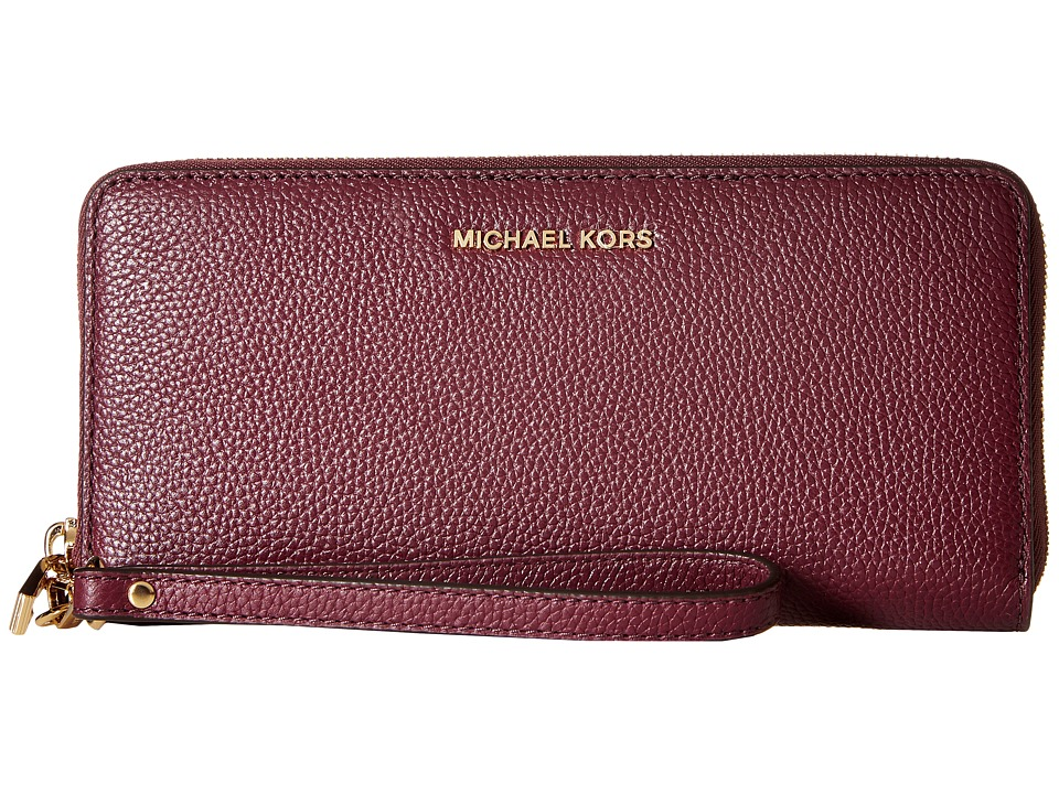 MICHAEL Michael Kors - Mercer Travel Continental (Plum) Travel Pouch