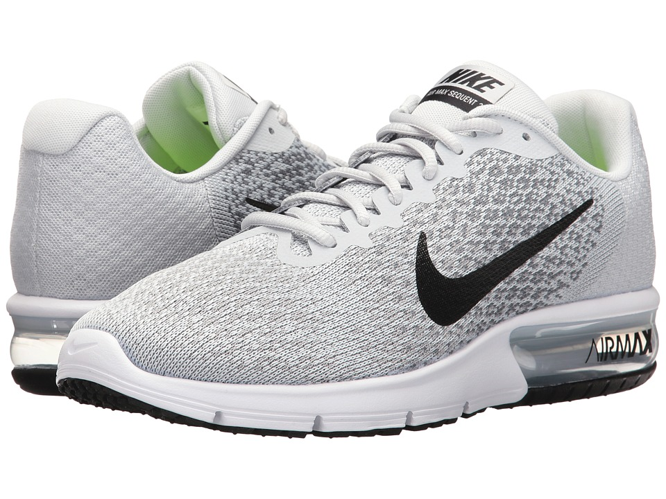 Nike Air Max Sequent 2 (Pure Platinum/Black/Cool Grey/Wolf Grey) Men