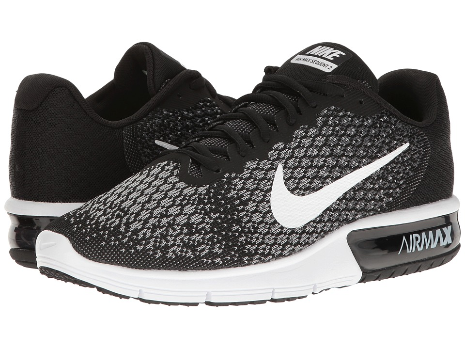 Nike Air Max Sequent 2 (Black/White/Dark Grey/Wolf Grey) Men