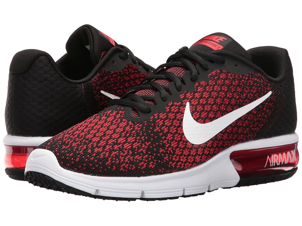 Nike Air Max Sequent 2 (Black/White/Team Red/University Red) Men