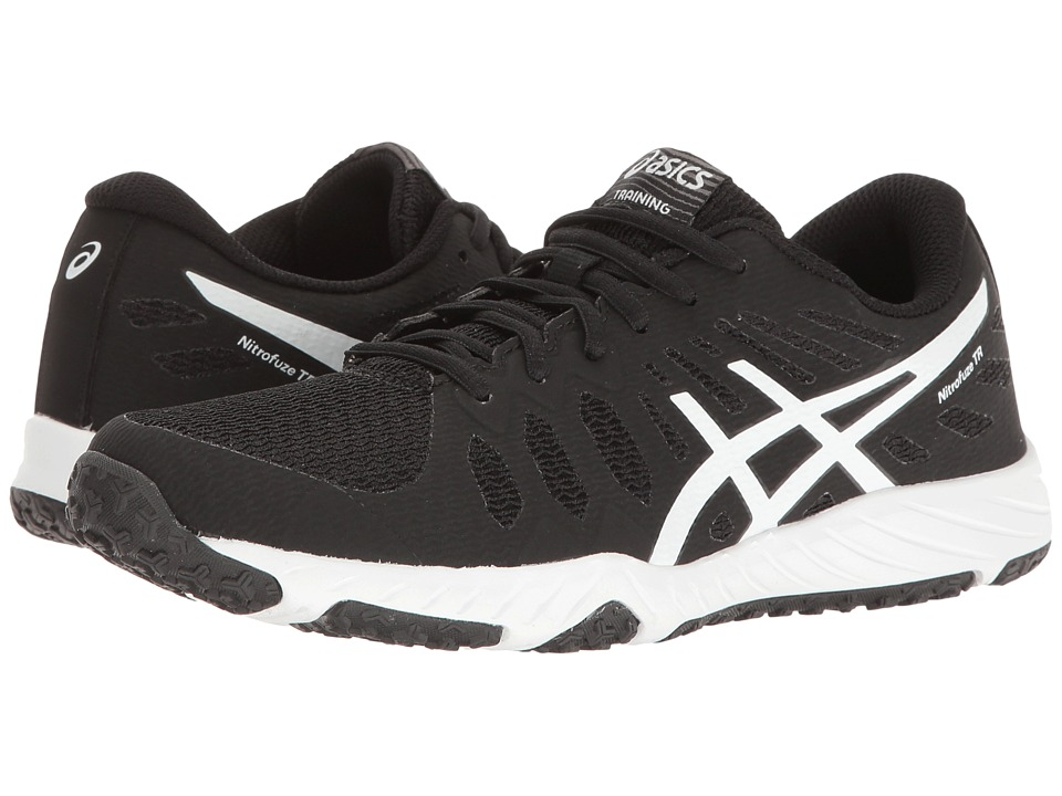 ASICS - Gel-Nitrofuze TR (Black/White/White) Womens Cross Training Shoes