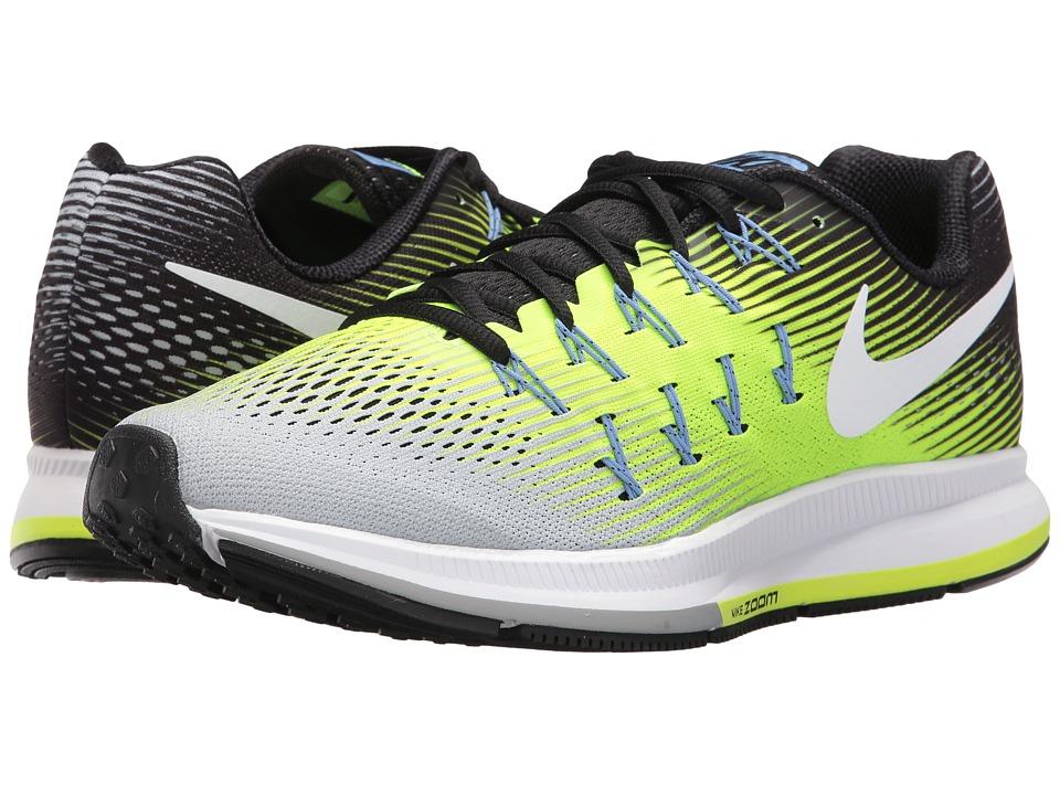 Nike Air Zoom Pegasus 33 (Matte Silver/White/Volt/Black) Men