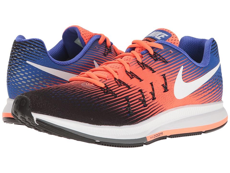 Nike Air Zoom Pegasus 33 (Black/White/Hyper Orange/Paramount Blue) Men