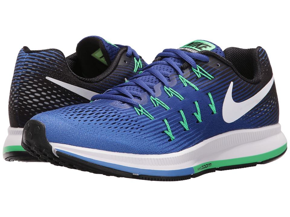 Nike Air Zoom Pegasus 33 (Medium Blue/White/Deep Night/Black) Men