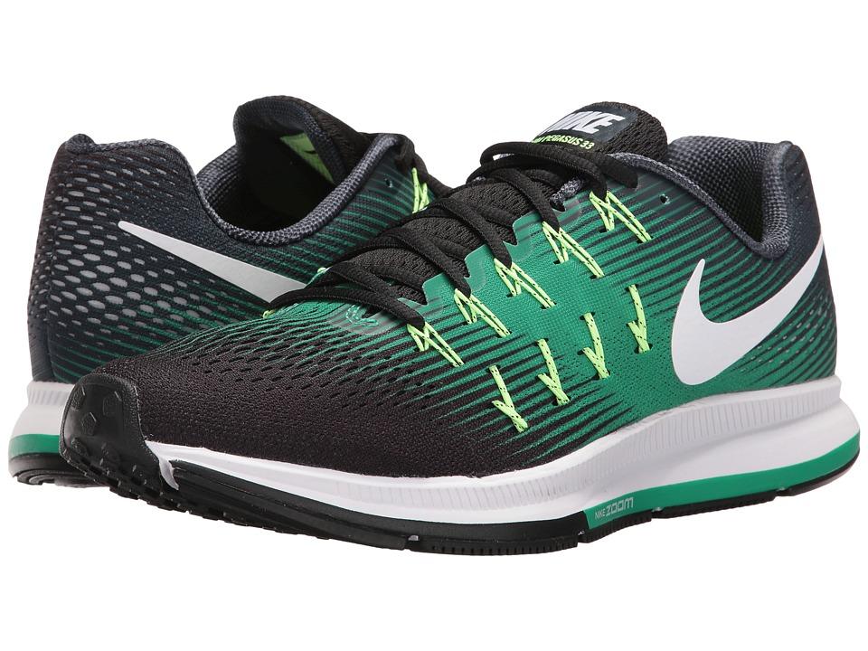 Nike Air Zoom Pegasus 33 (Armory Navy/White/Black/Stadium Green) Men