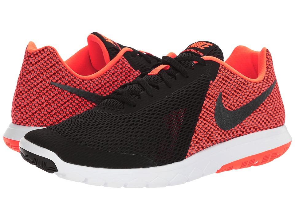 Nike Flex Experience RN 6 (Black/Metallic Hematite/Hyper Orange/White) Men