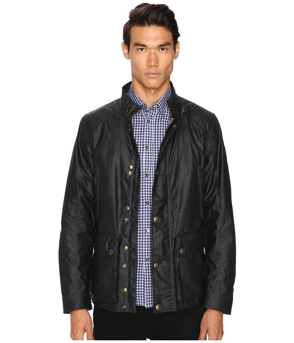 BELSTAFF - New Tourmaster Signature 6oz. Waxed Cotton Jacket (Dark Navy) Mens Coat