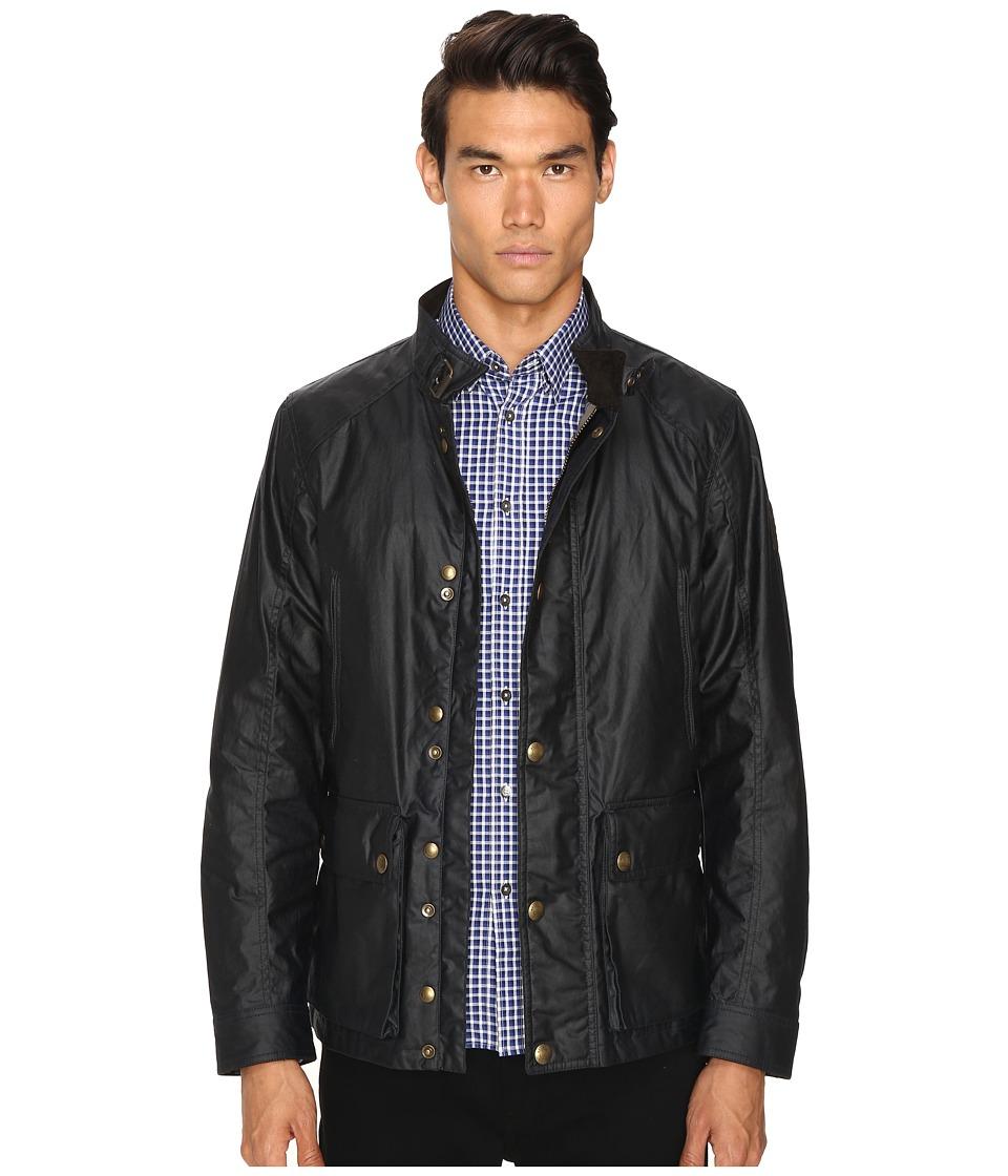 Image of BELSTAFF - New Tourmaster Signature 6oz. Waxed Cotton Jacket (Dark Navy) Men's Coat