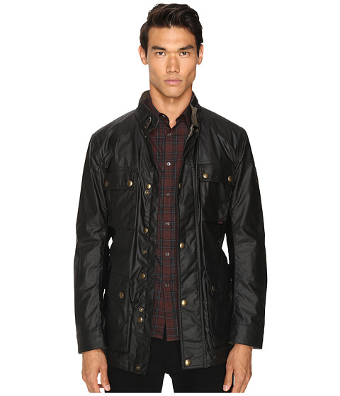 BELSTAFF Roadmaster Signature 6oz. Waxed Cotton Jacket - Black