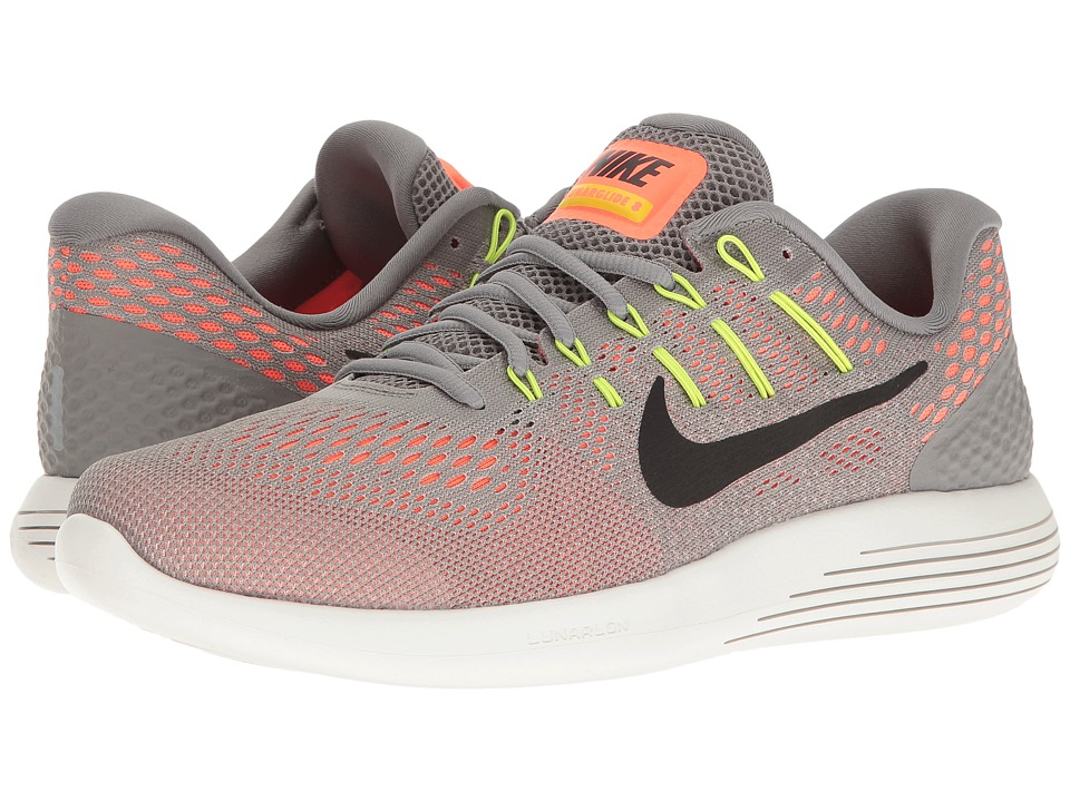 Nike Lunarglide 8 (Dust/Black/Hyper Orange/Electrolime) Men