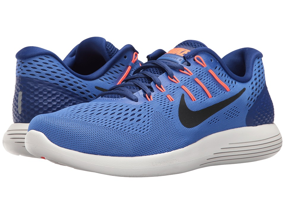 Nike Lunarglide 8 (Medium Blue/Black/Deep Royal Blue) Men