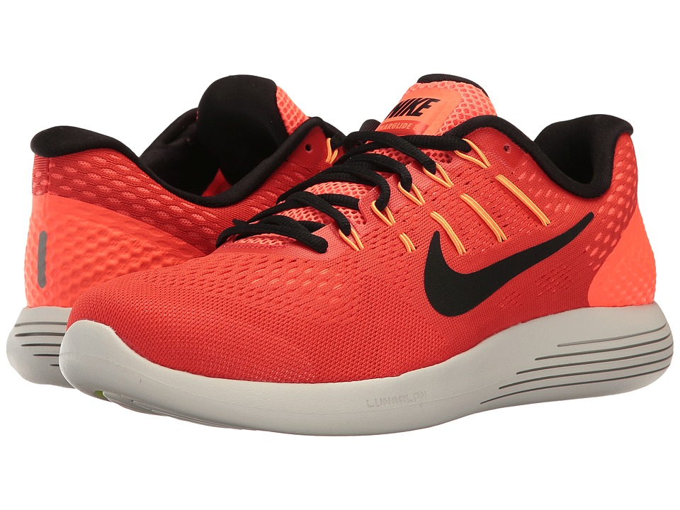 Nike Lunarglide 8 (Max Orange/Black/Hyper Orange) Men