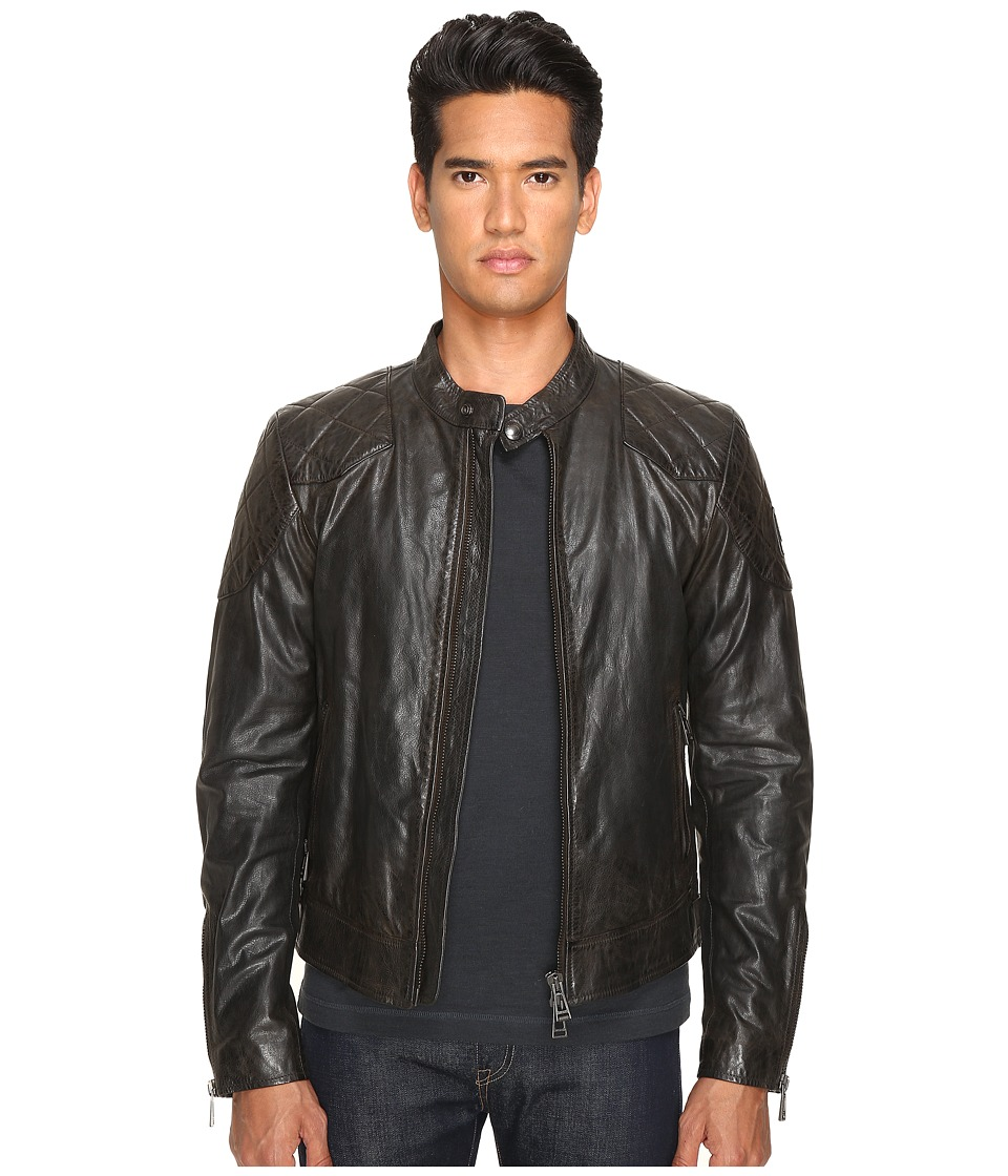 Image of BELSTAFF - Outlaw Lightweight Hand Waxed Leather Jacket (Black) Men's Coat
