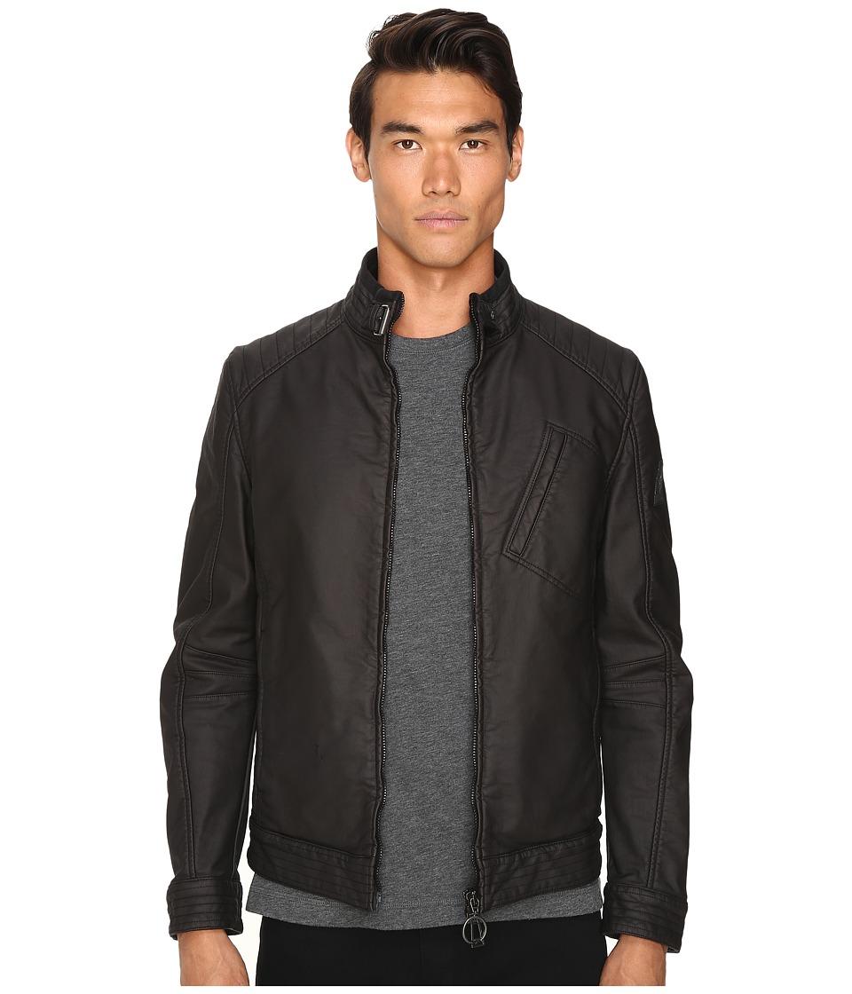 Image of BELSTAFF - H Racer Rubberized Jersey Jacket (Black) Men's Coat