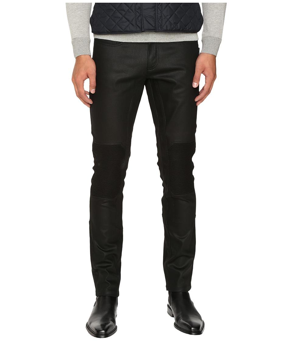 Image of BELSTAFF - Blackrod Regular Fit Raw Stretch Motor Denim in Black (Black) Men's Jeans