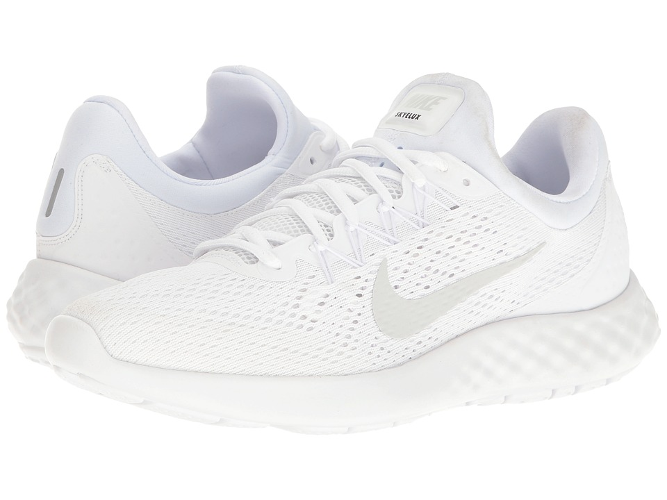 Nike - Lunar Skyelux (White/Pure Platinum/Off-White) Mens Running Shoes