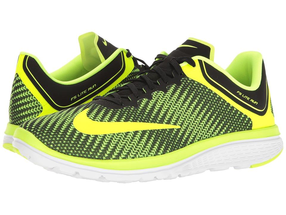 Nike - FS Lite Run 4 Premium (Volt/Volt/Black/White) Mens Running Shoes