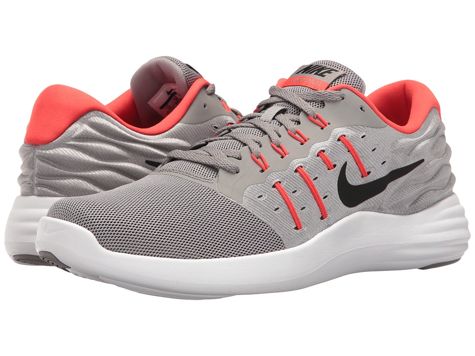 Nike - Lunarstelos (Dust/Black/Max Orange/Midnight Fog) Mens Running Shoes