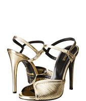 Just Cavalli - Laminated Leather Open Toe Heels