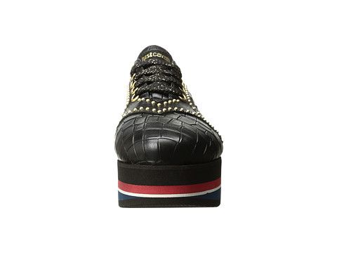 JUST CAVALLI Cocco Printed Leather Sneaker