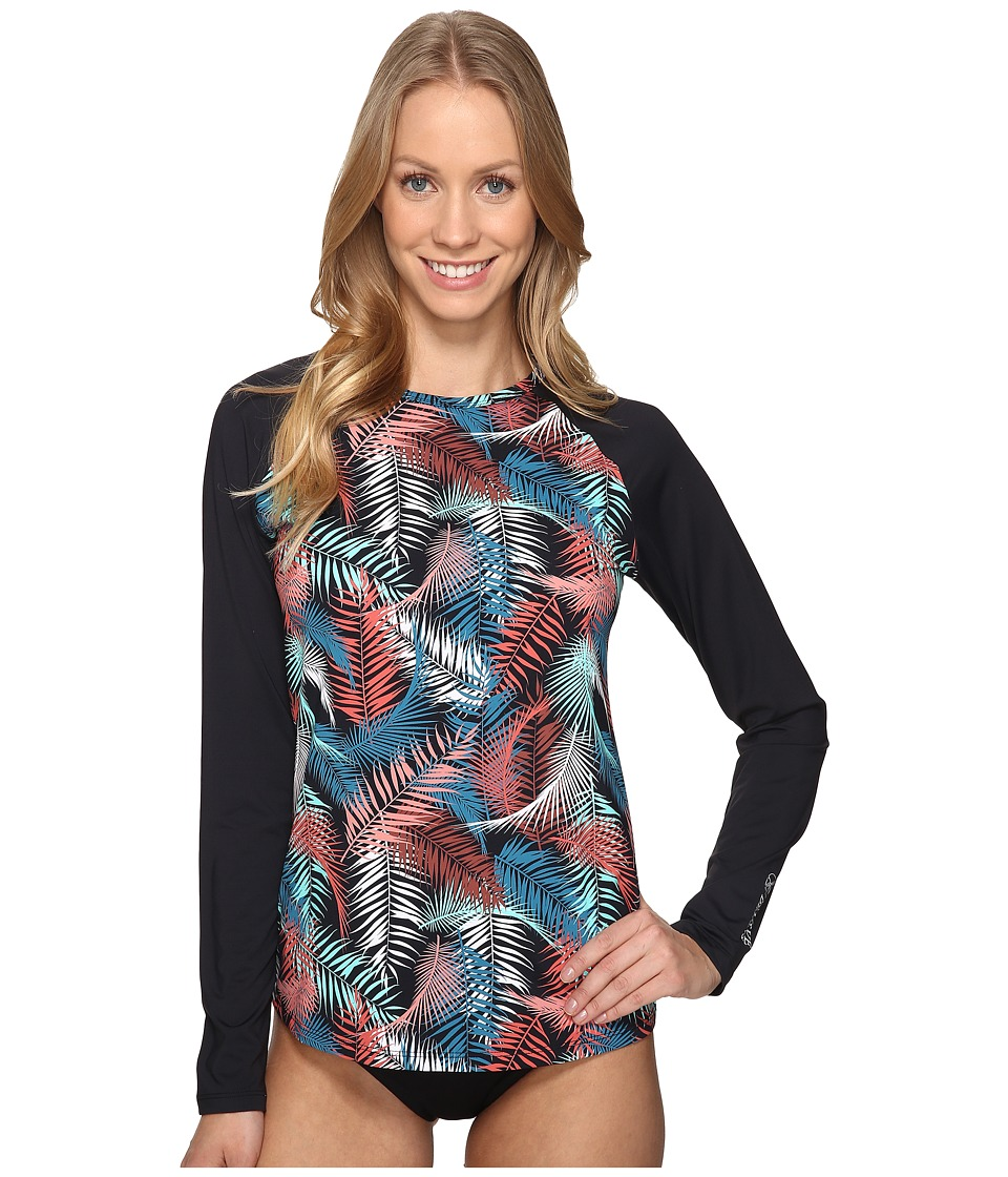 Carve Designs Sunset Rash Guard (Black Kauai) Women