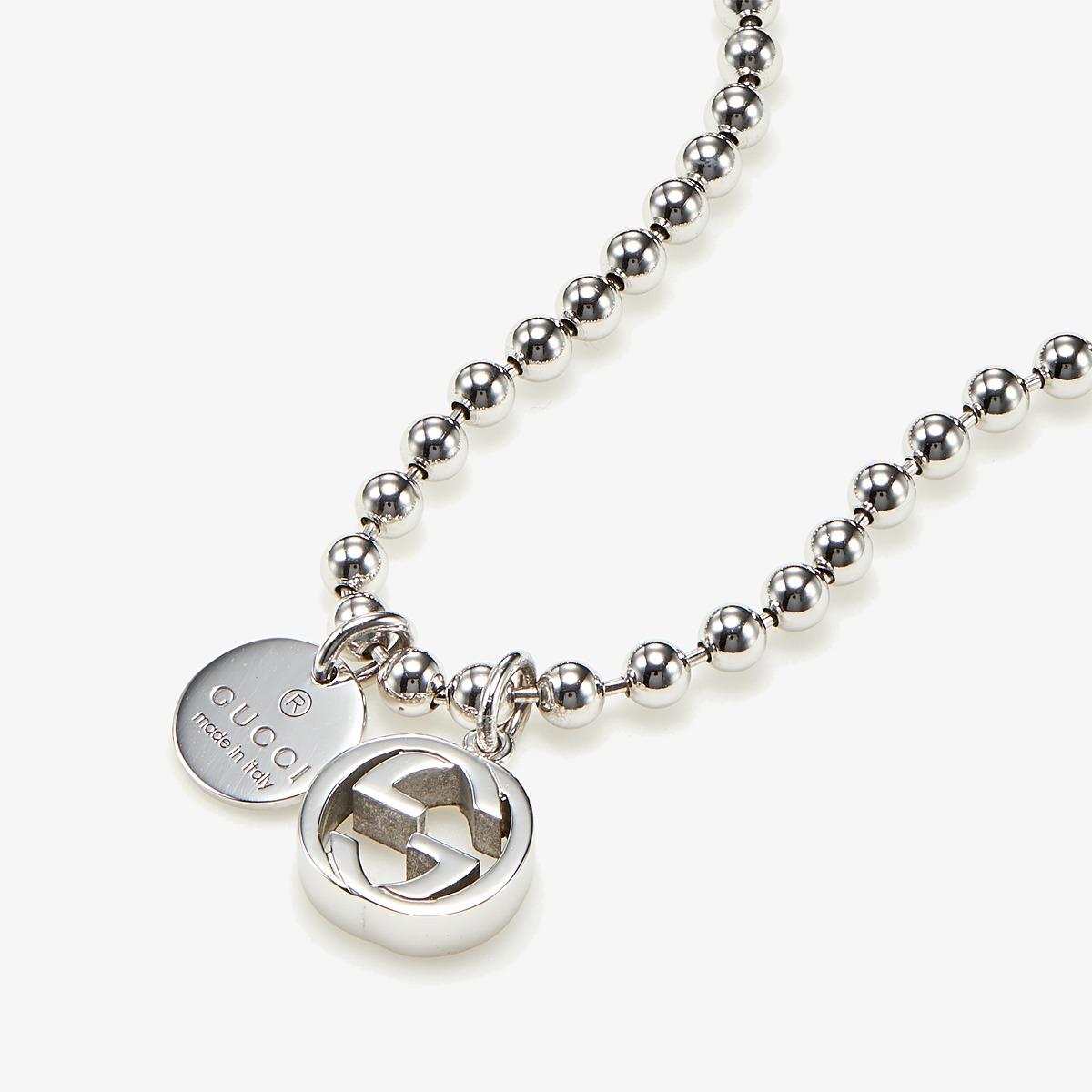 Gucci 55cm Boule Necklace (Silver) Necklace