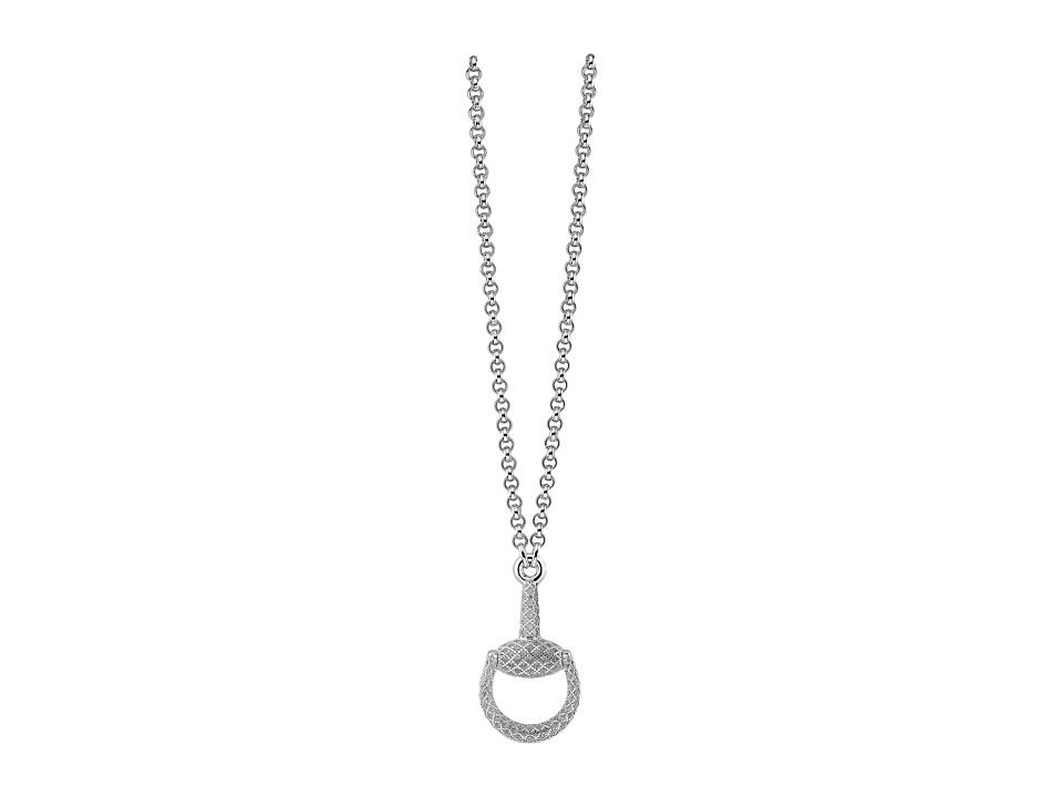 Gucci 55cm Horsebit Light Necklace (Silver) Necklace