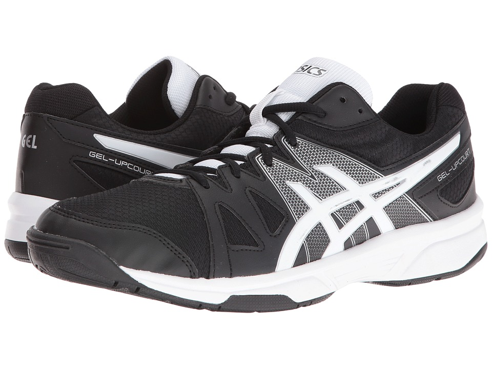 Asics Gel-Upcourttm (Black/White/Silver) Men's Shoes