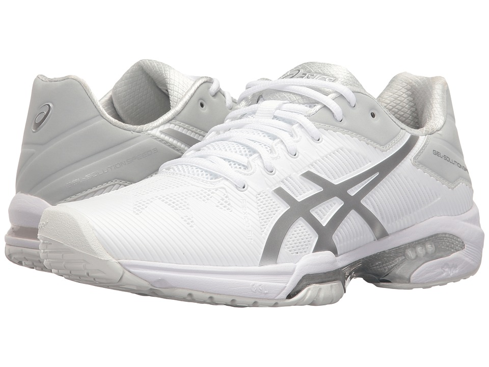 ASICS - Gel-Solution(r) Speed 3 (White/Silver) Womens Tennis Shoes