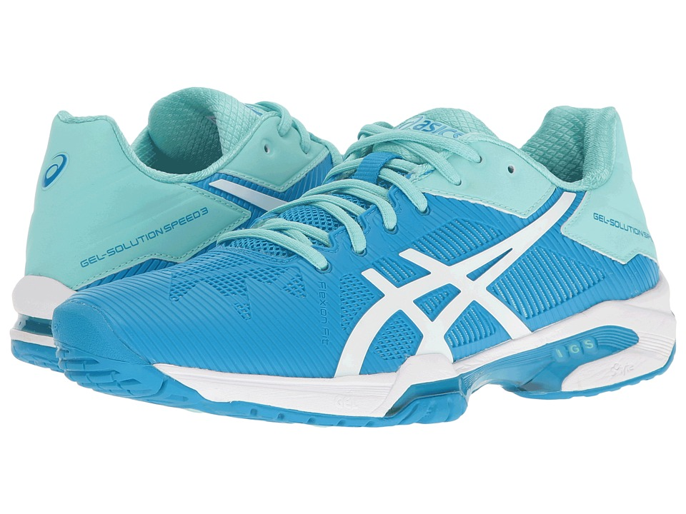 Asics Gel-Solution(r) Speed 3 (Aqua Splash/White/Diva Blu...