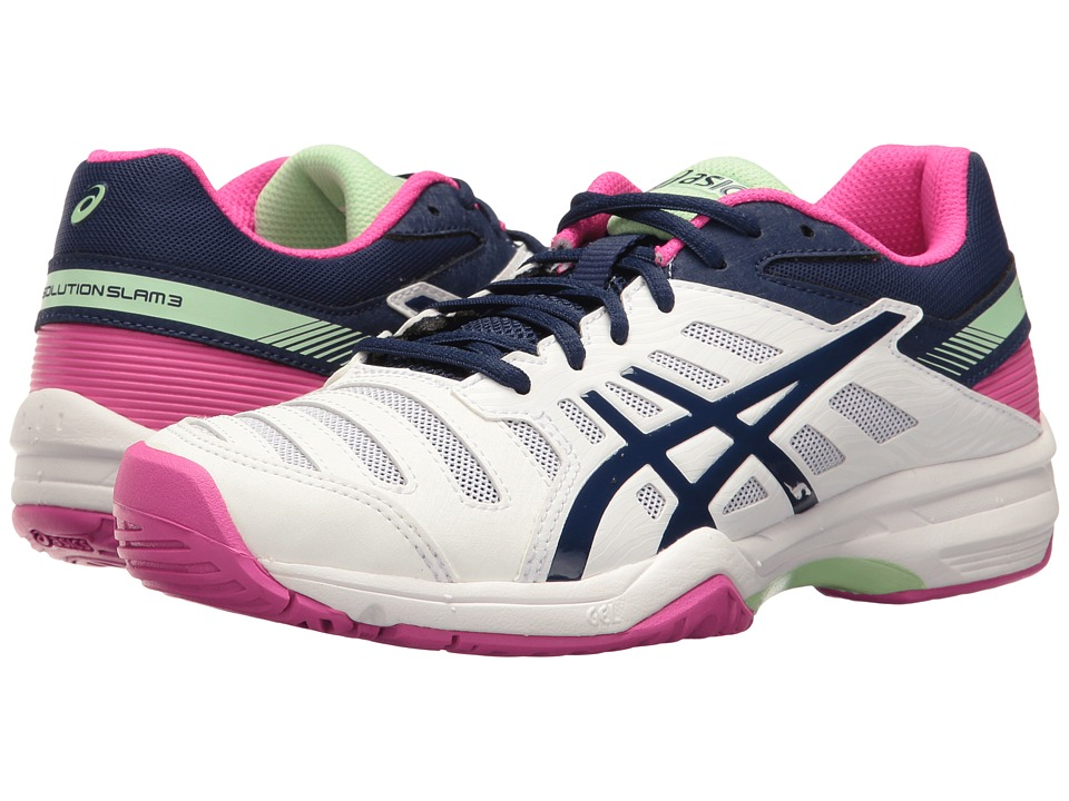 Asics Gel-Solution Slamtm 3 (White/Indigo Blue/Pink Glow)...