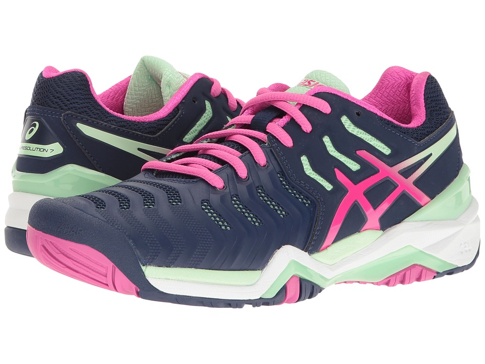 Asics Gel-Resolution 7 (Indigo Blue/Pink Glow/Paradise Gr...
