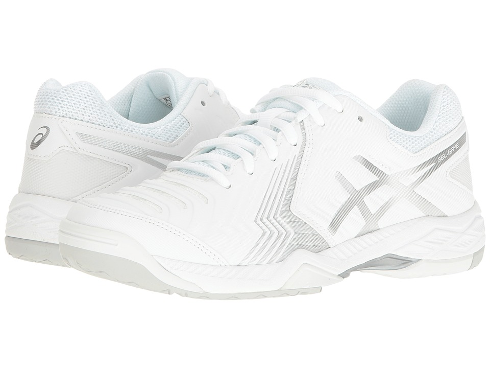 Asics Gel-Game 6 (White/Silver) Women's Tennis Shoes