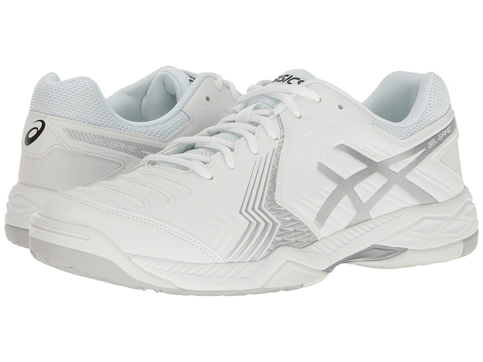 ASICS - Gel-Game 6 (White/Silver) Mens Tennis Shoes