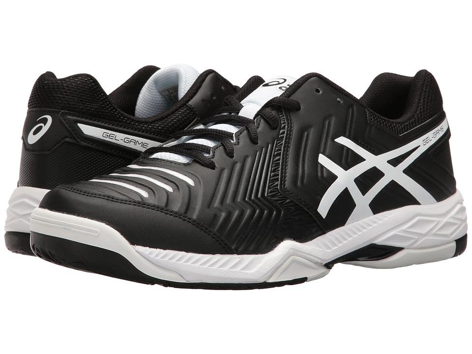 Asics Gel-Game 6 (Black/White) Men's Tennis Shoes