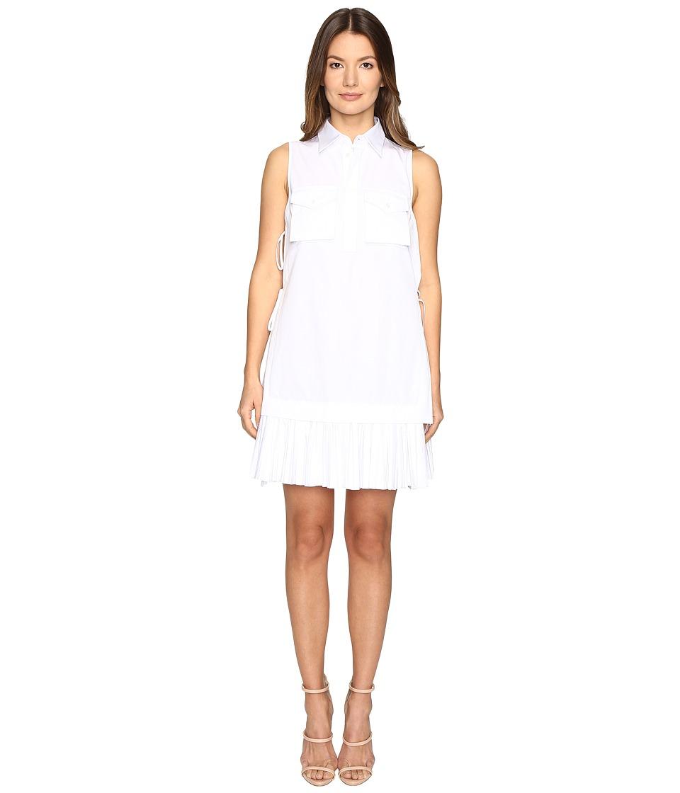 DSQUARED2 Open Sides Military Chemisier Dress (White) Women