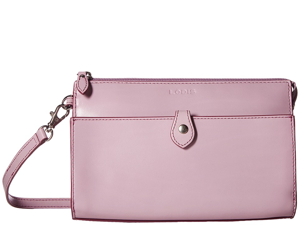 Lodis Accessories Audrey Vicky Convertible Crossbody Clutch (Iced Violet/Beet) Clutch Handbags