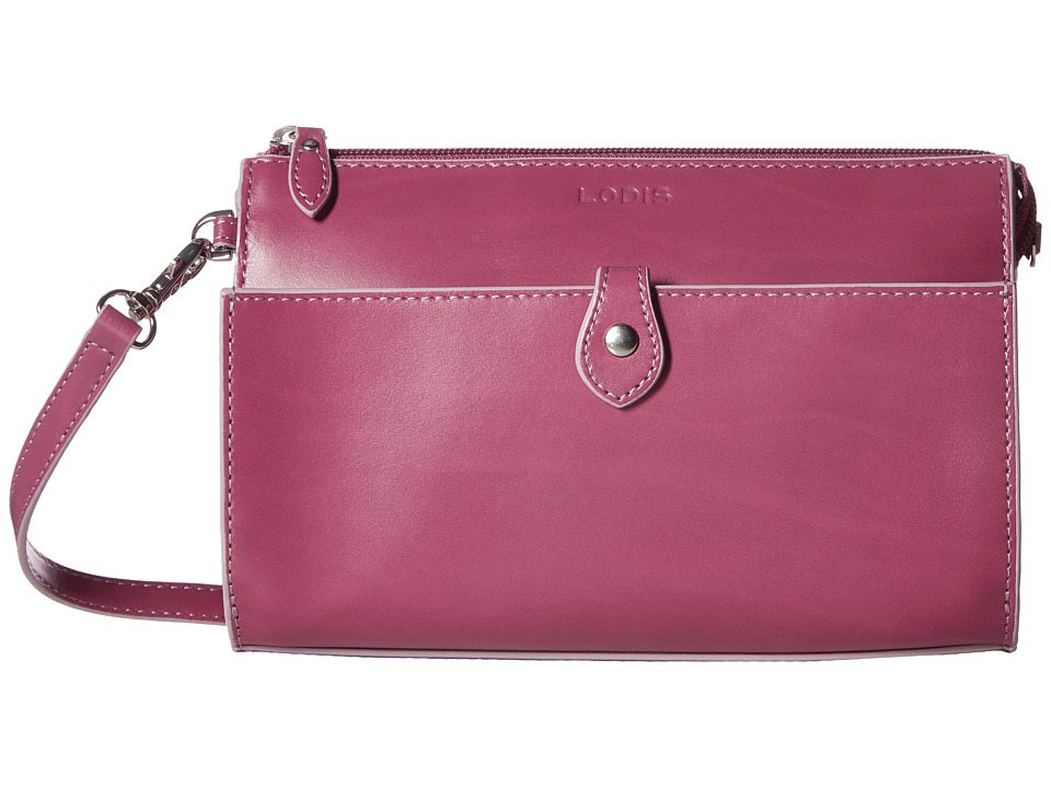 Lodis Accessories Audrey Vicky Convertible Crossbody Clutch (Beet/Iced Violet) Clutch Handbags