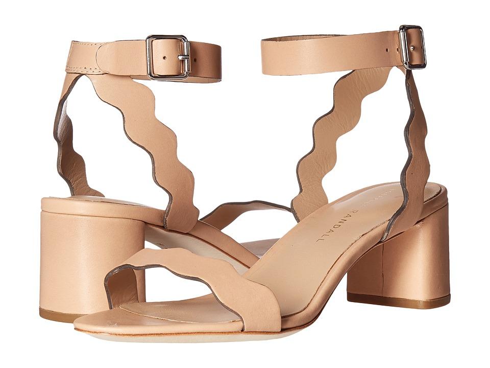 Loeffler Randall Emi Scallop Block Heel Sandal (Wheat Vachetta) Women's Shoes