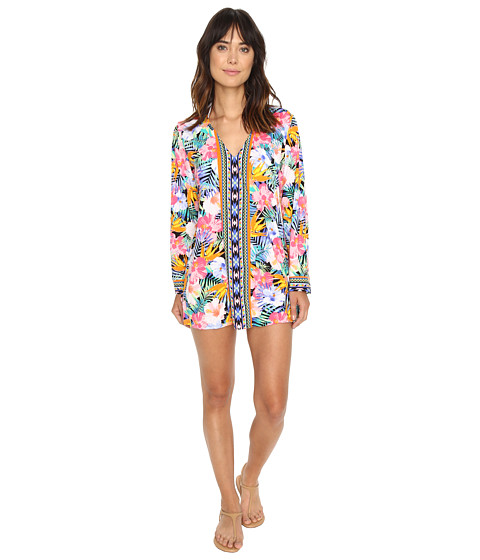 La Blanca Tropicali V-Neck Tunic Cover-Up - Multi