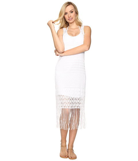 La Blanca Crystal Cove Crotchet Tank Dress Cover-Up