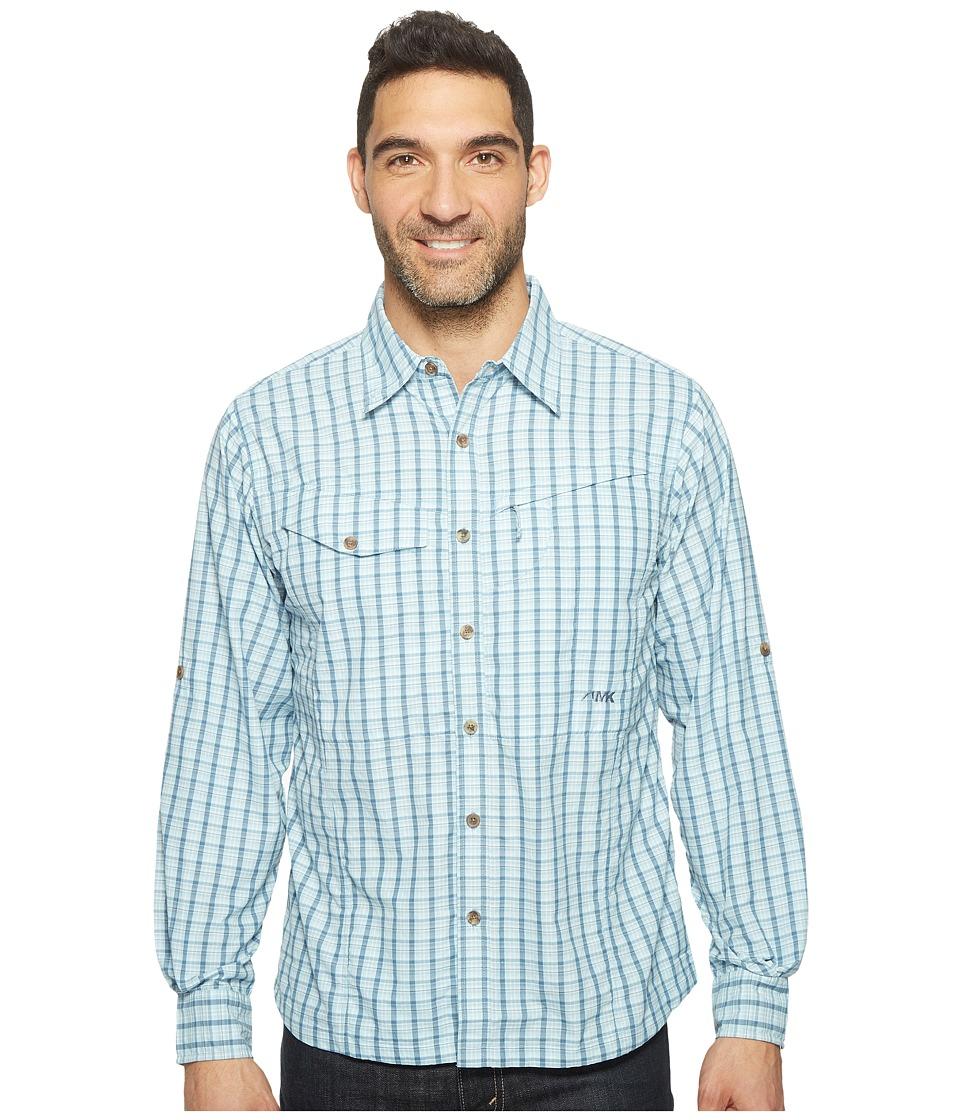 Mountain Khakis - Trail Creek Long Sleeve Shirt (Cornflower Plaid) Mens Clothing