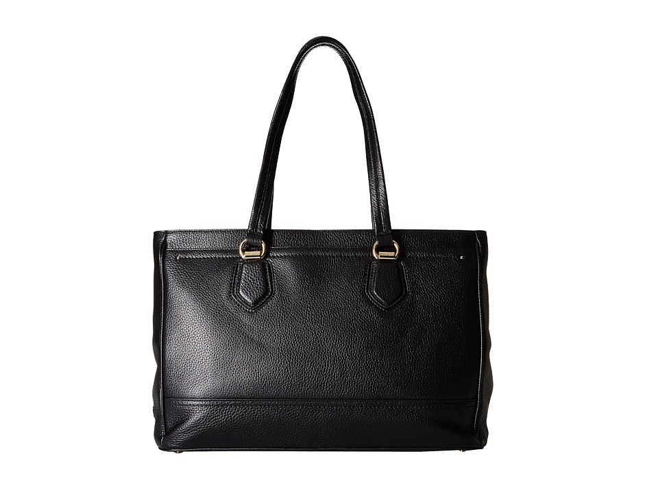 Cole Haan - Tali Double Zip Work Tote (Black) Tote Handbags