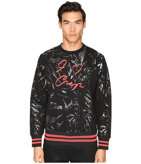 Vivienne Westwood I Love Crop Sweatshirt - Black