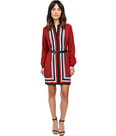 MICHAEL Michael Kors - Optic Scarf Long Sleeve Dress
