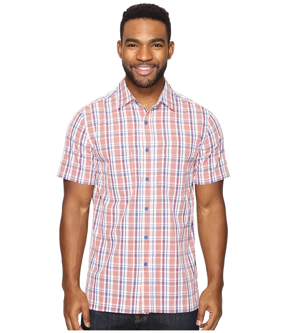 Royal Robbins Diablo Plaid Short Sleeve (Crimson) Men