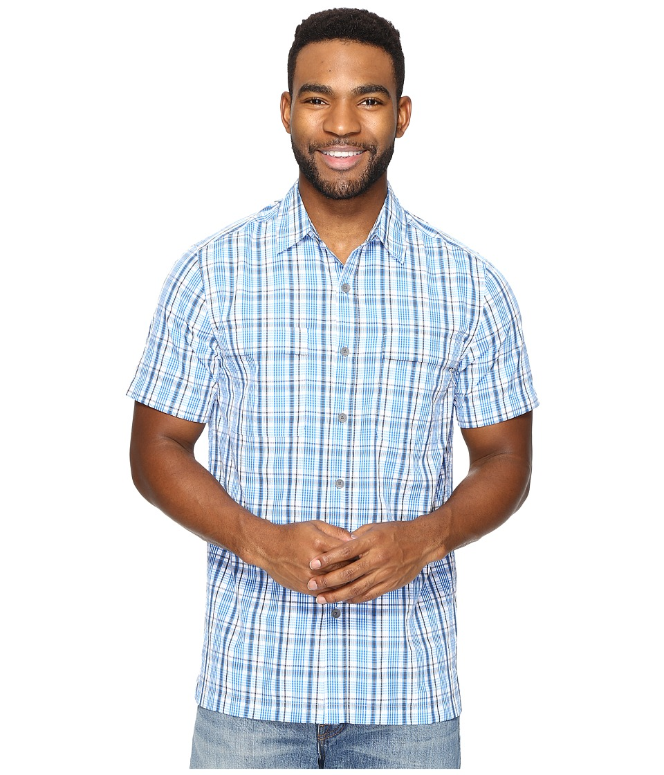 Royal Robbins Diablo Plaid Short Sleeve (Merlin Blue) Men
