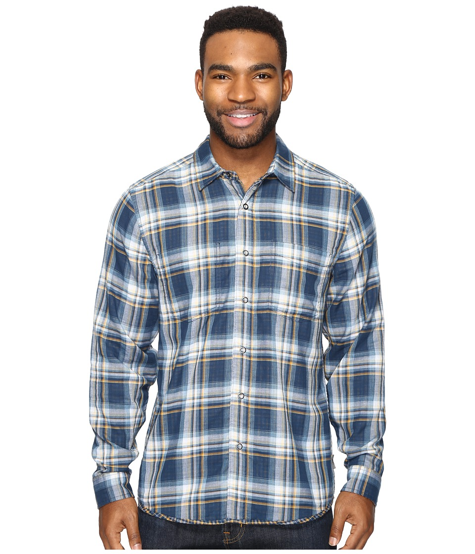 Royal Robbins Double Cloth Long Sleeve (Collins Blue) Men