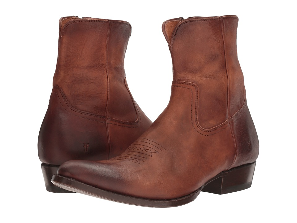 Frye Austin Inside Zip (Whiskey Washed Tumbled Full Grain) Men