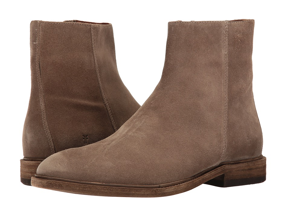 Frye Chris Inside Zip (Grey Oiled Suede) Men